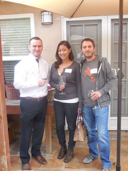 WGA Associate Director of Education Mike Maher (Marq. '07),  Lilly Chu, and Josh DeKeyser (Wisc. '00).