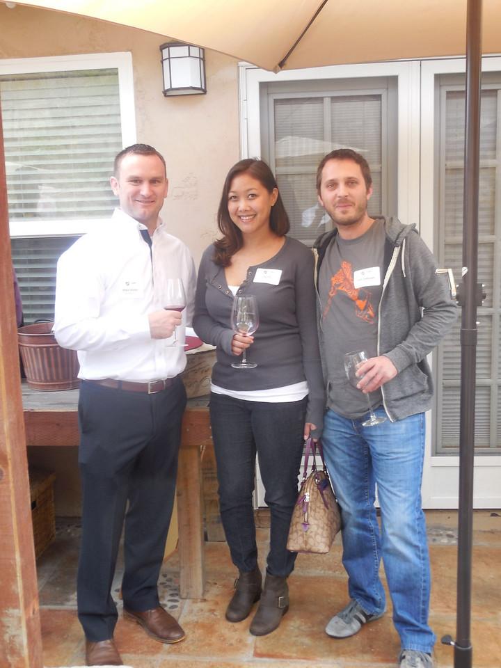 WGA Associate Director of Education Mike Maher (Marq. '07),  Lilly Chu, and Josh DeKeyser (Wisc. '00).