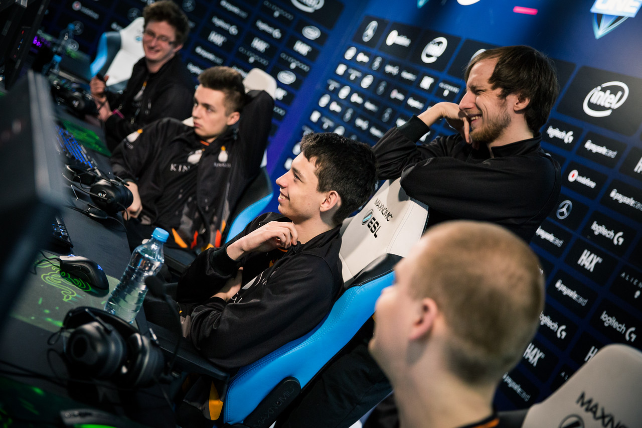 Team Kinguin during the groupstage of ESL One Katowice 2018