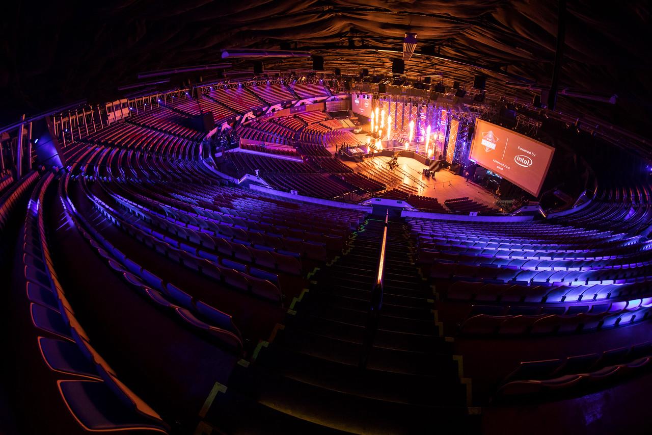 The spodek arena awaits the action!