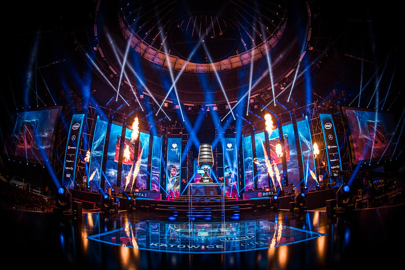 The Mainstage of the ESL One Katowice 2018 Dota 2 Major