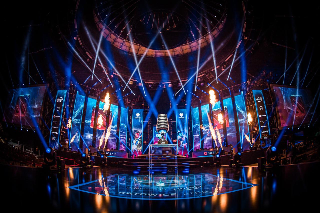 The Mainstage of the ESL One Katowice 2018 Dota 2 Major