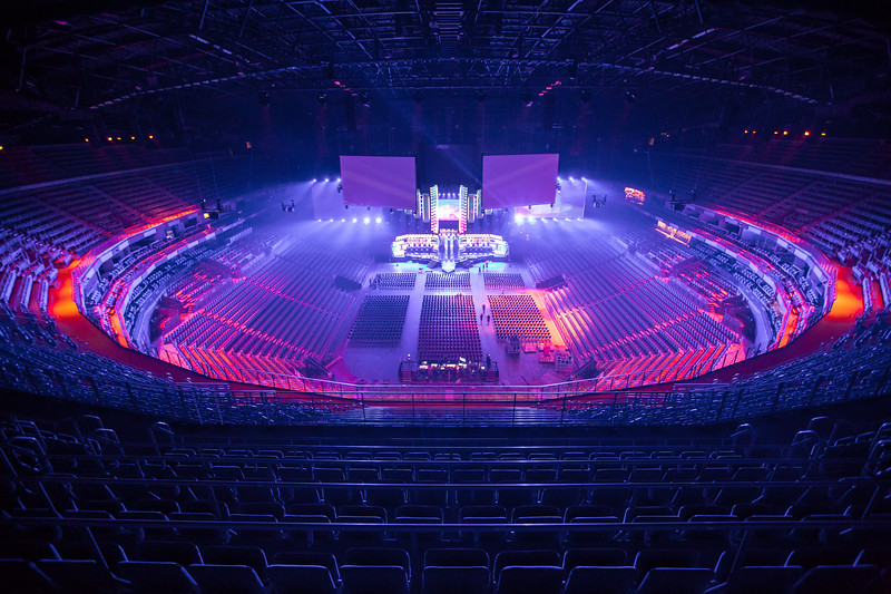 The Lanxess Arena opens