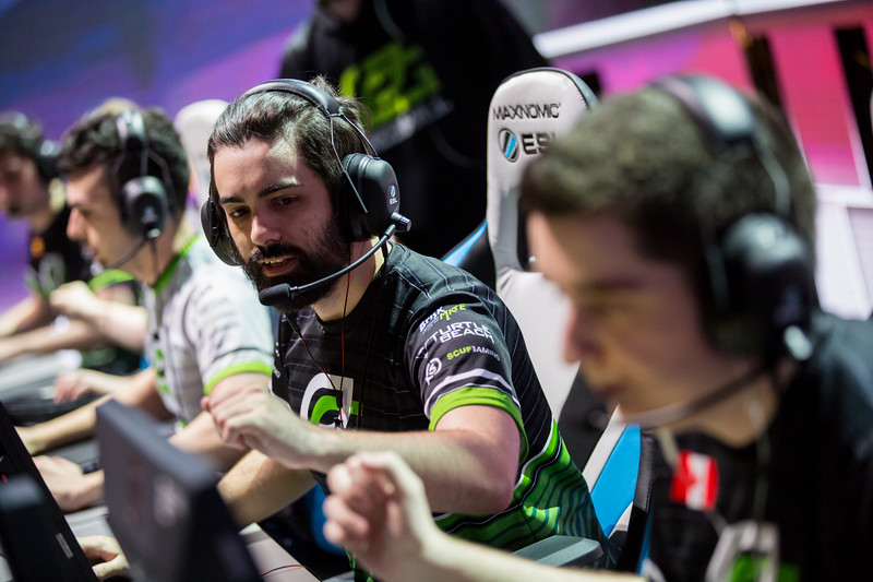 Optic Hazed playing at the playoffs of ESL One Cologne 2017
