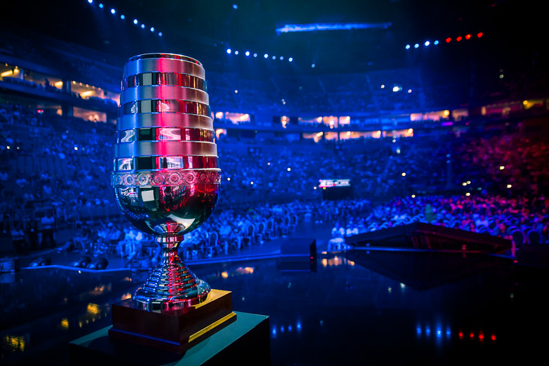 The trophy of ESL One Cologne 2017