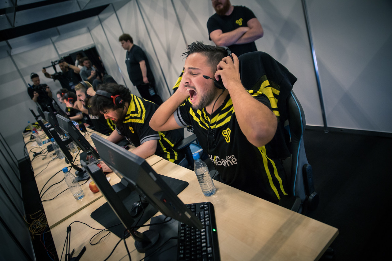 Space Soldiers ngiN as his team takes the game against SK Gaming 16--14 in round one of the group stage at ESL One Cologne 2017