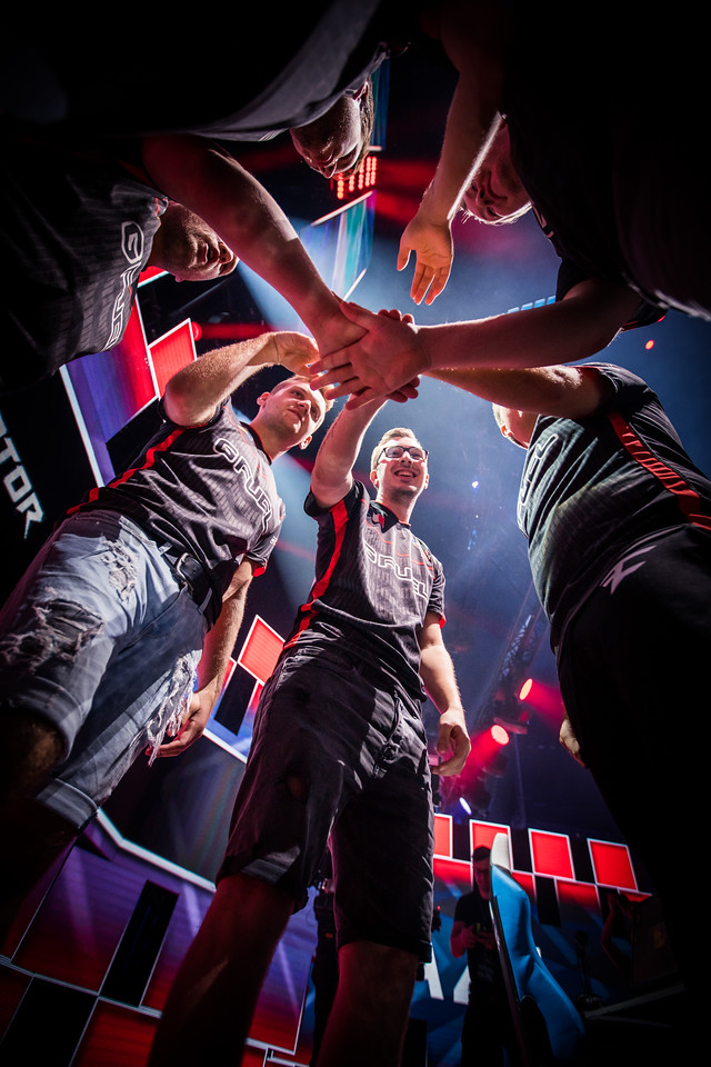 Faze Clan moments before their game in the semi-finals