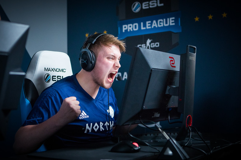 North's k0nfig celebrates a great round at the ESL Proleague Group Stage