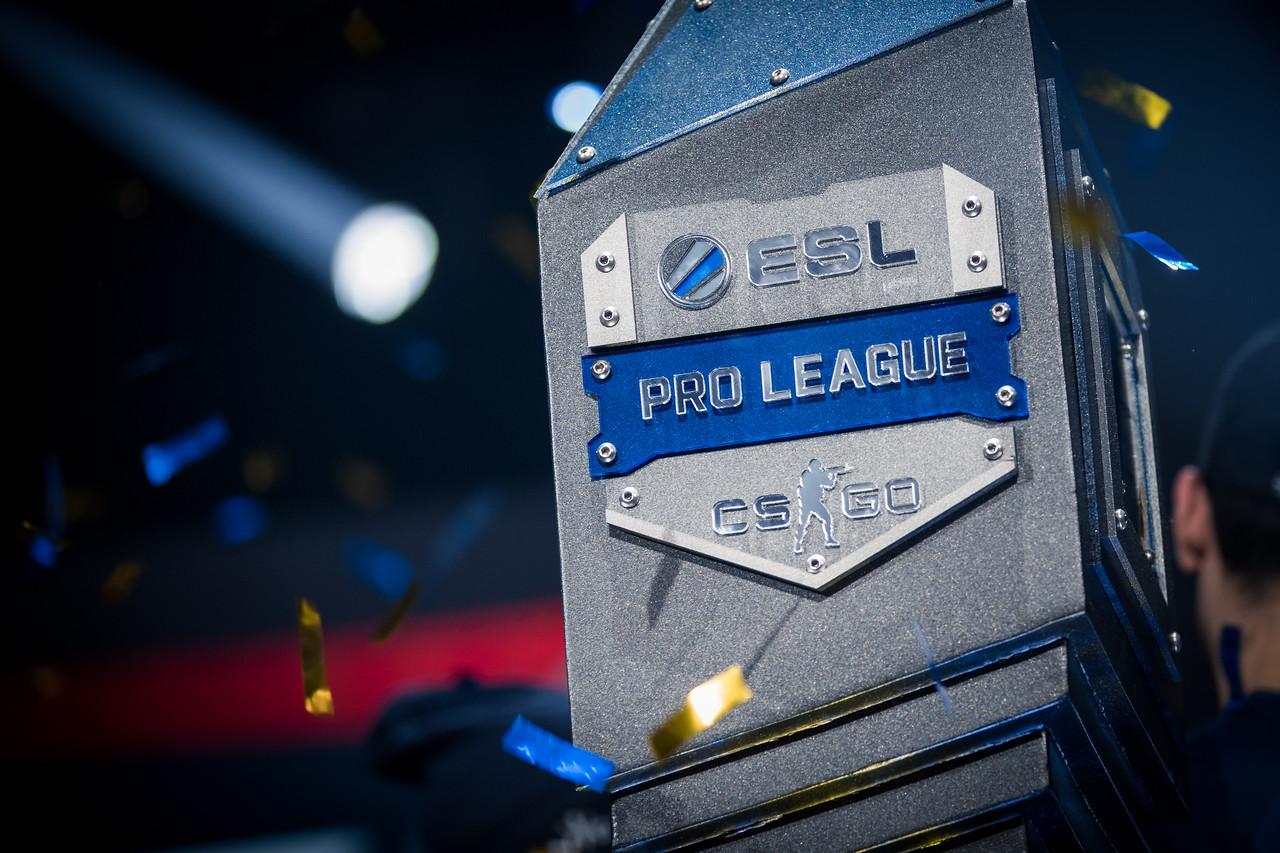 The trophy of the ESL Pro League Season 6 Finals!
