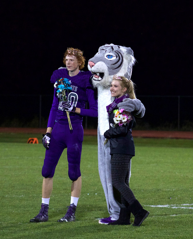 . Seniors Nik Rastatter and Bailey Ash were named homecoming royalty at halftime of the football game.   Photos by Nic Wackerly