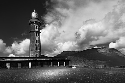 Lighthouse and volcano of Capelinhos