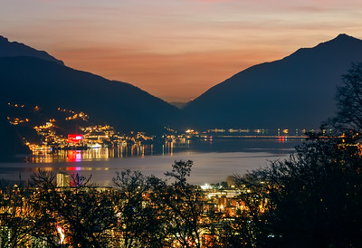 Lake Lugano by night