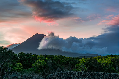 Sunrise on Pico volcano