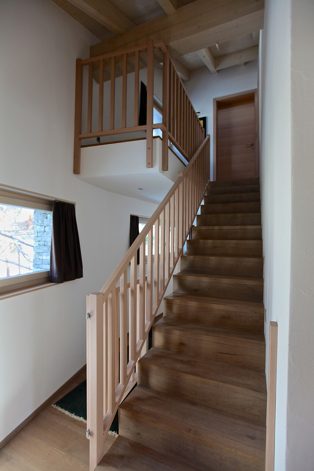 Above the master bedroom is a small fifth floor that also has an extra bedroom.