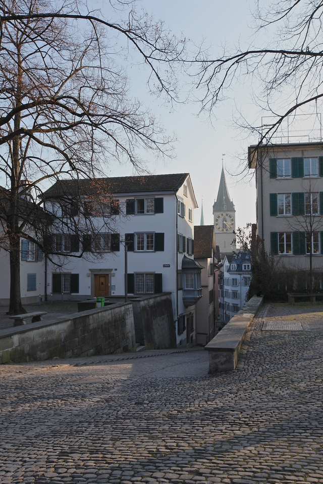 The Lindenhof hill is a moraine hill and a public square in the historic center of Zurich where the city began and around which the city has historically grown. The hilltop area including its prehistoric, Roman and medieval remains is listed as a Swiss heritage site of national significance