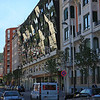 The Silken Gran Hotel,<br /> designed by Javier Mariscal,  is just across the street from Bilbao's Guggenheim Museum.