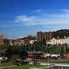 Bilbao has an oceanic climate, with precipitation occurring throughout the year.  Rainy days represent 45% and cloudy days 40% of the annual total. The rainy season is between October and April with November being the wettest. <br /> <br /> Its proximity to the ocean keeps the weather mild with minimal variation in temperatures throughout the seasons.  Average maximum temperatures vary between 25 °C (77.0 °F) and 26 °C (78.8 °F) in the summer and  in winter it is between 6 °C (42.8 °F) and 7 °C (44.6 °F).