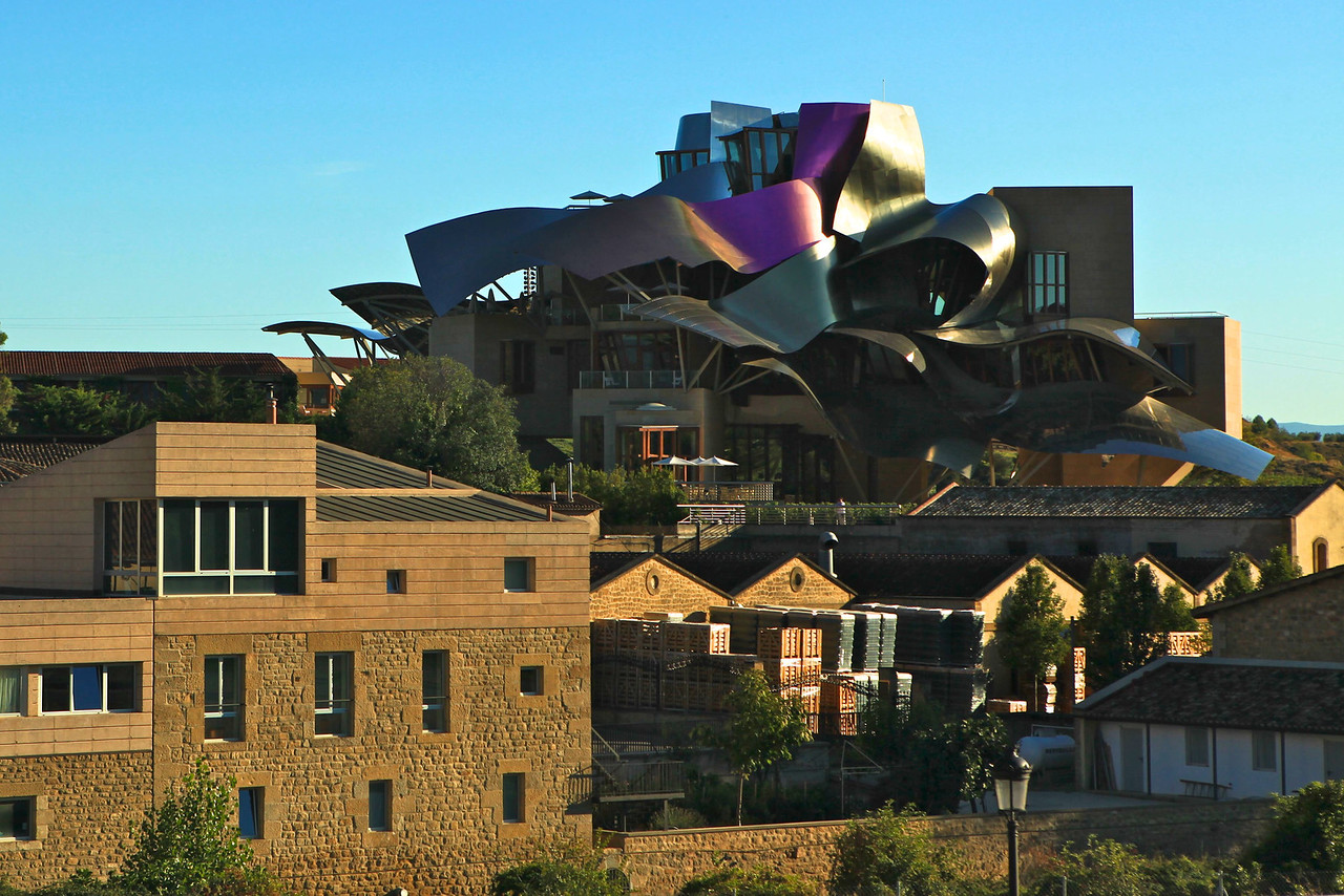 The hotel has 43 rooms and is operated by Starwood.  Gehry also designed the Guggenheim Museum in Bilbao.