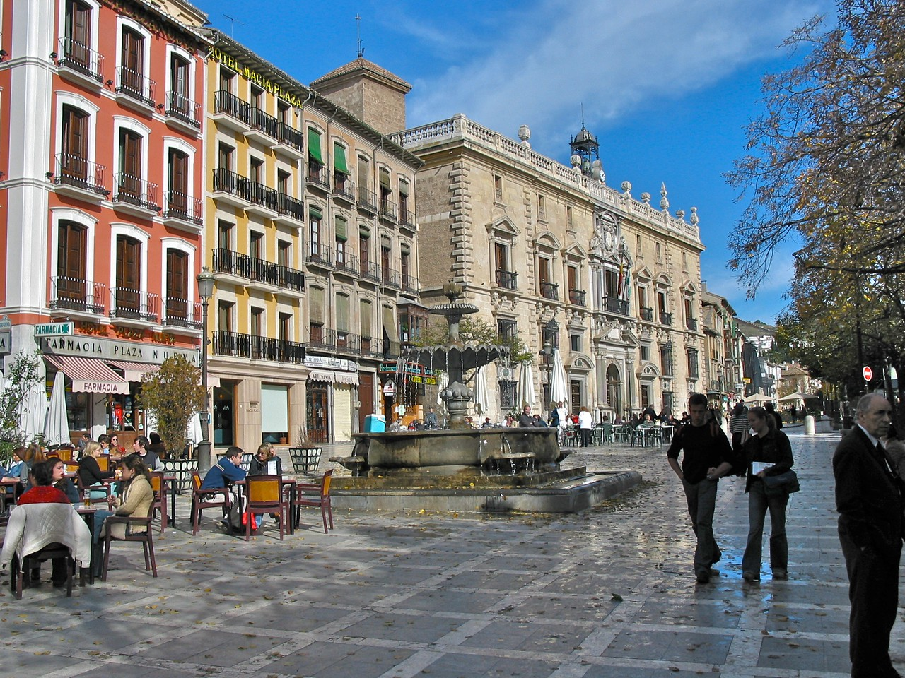 The city of Granada at an elevation of 2500 ft above sea level is only one hour from the Mediterrean sea.