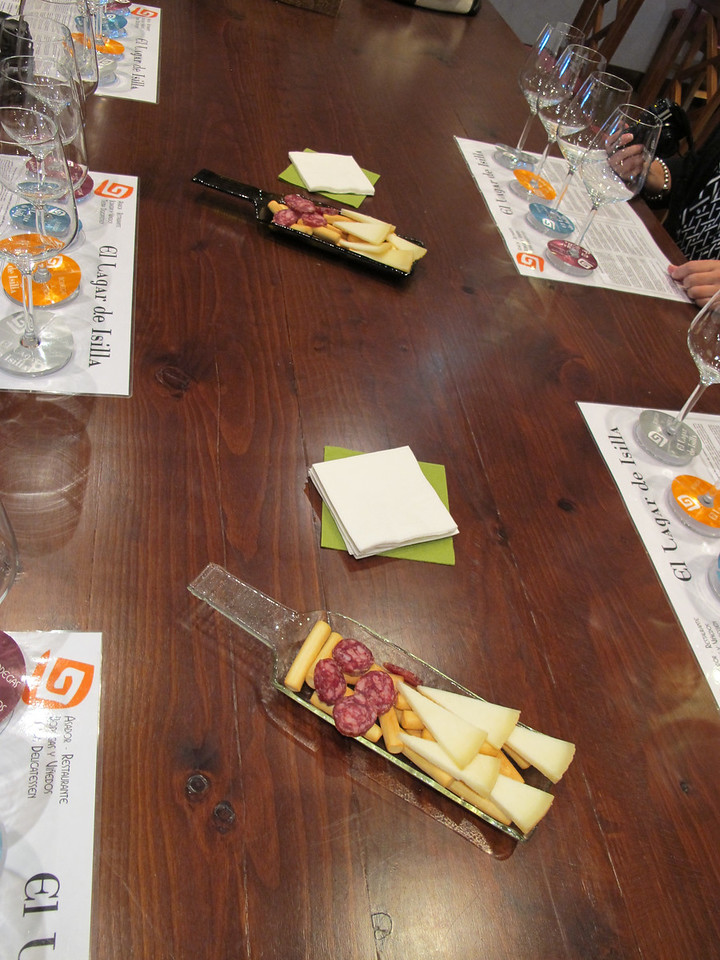 No wine tasting would be complete without bread, cheese and salami.