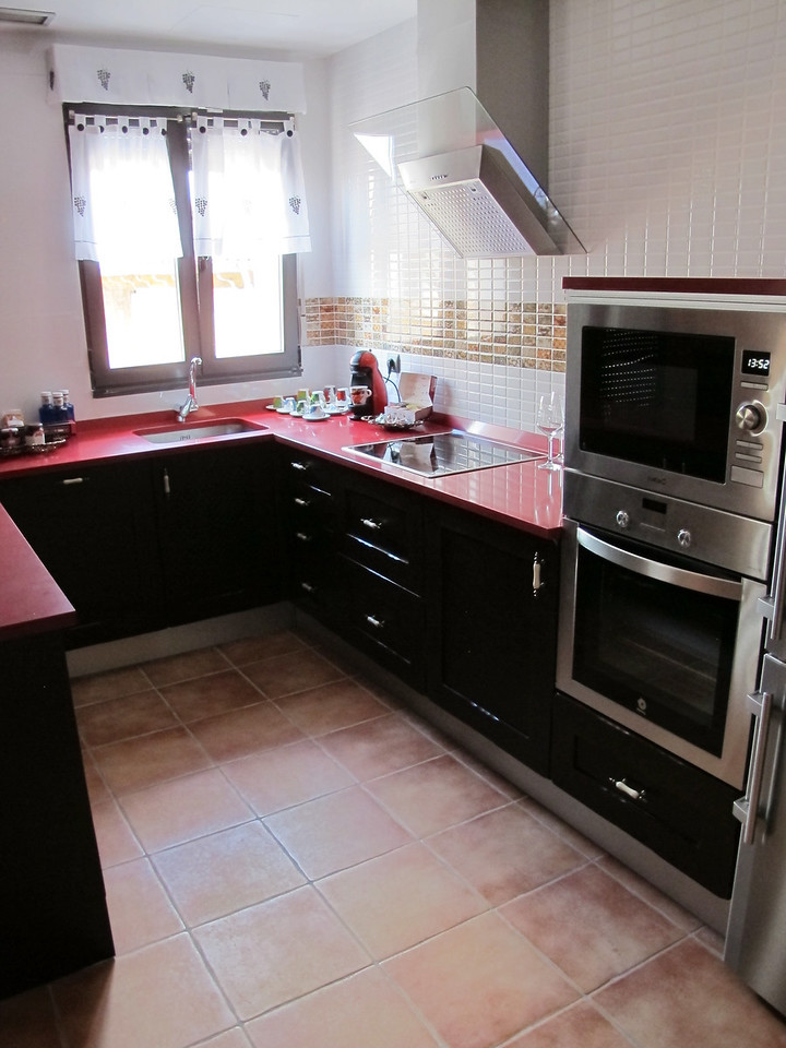 The last room is the Arbillo 2 bedroom apartment.  It includes this large self-service kitchen.
