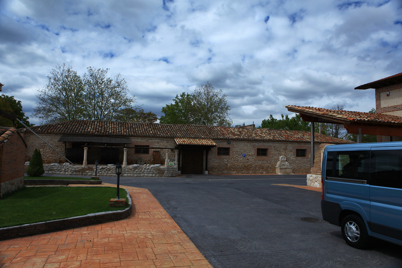 The winery was rebuilt around 2000 utilizing some of the original materials. This is the restored building from the previous picture.