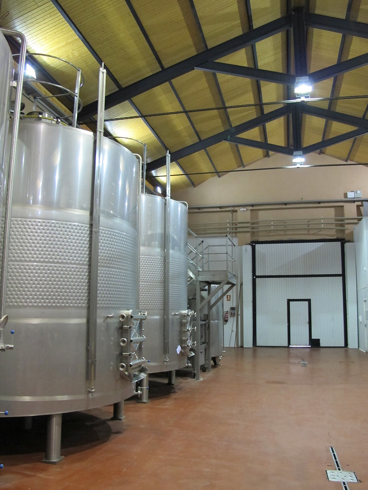 The winery is now fully modernized and includes these 22,500 litre tanks where the wine is held until is has undergone the alcoholic fermentation process.