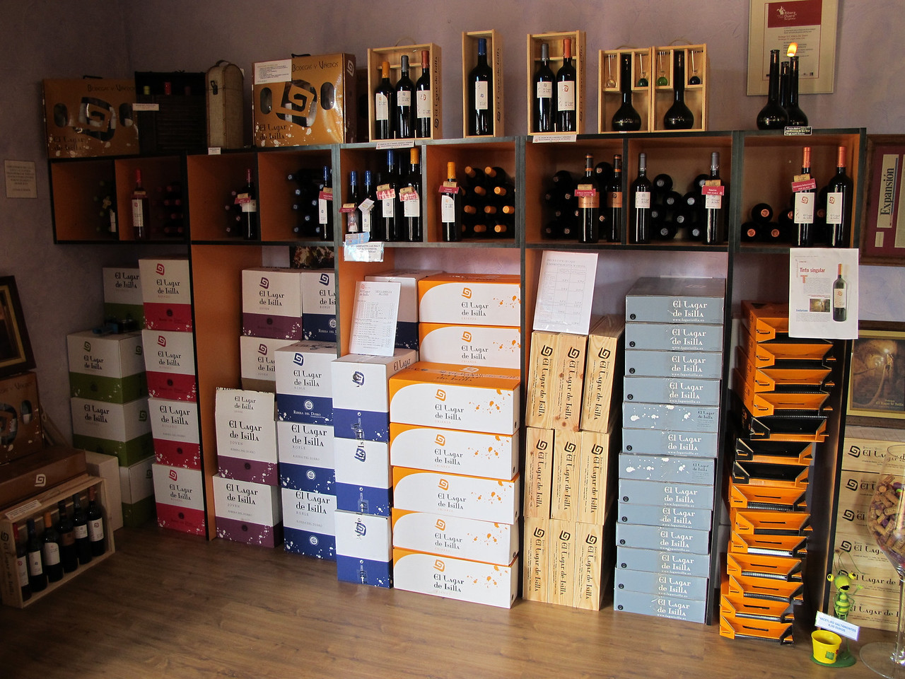 The winery has a large store where you can buy wine, cheeses, meats or souvenirs of your visit.