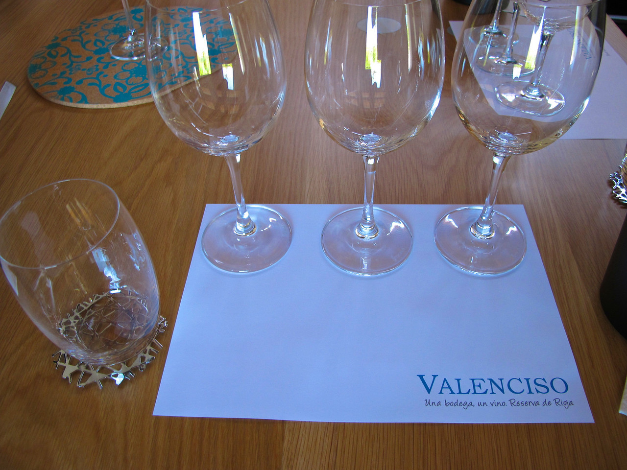 "Valenciso makes only wine per harvest which is always a red Reserva.  Valencisco calls it ""one cellar, one wine, one brand.""  Valenciso red Reserva is 100% tempranillo, aged in new French oak."