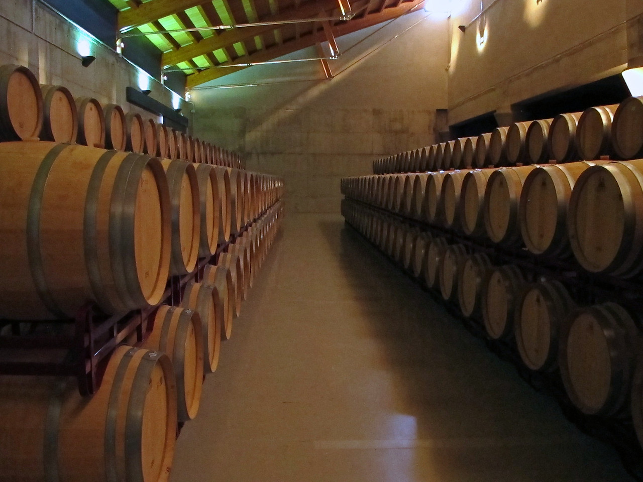 After fermentation, the wine is then put into oak barrels.