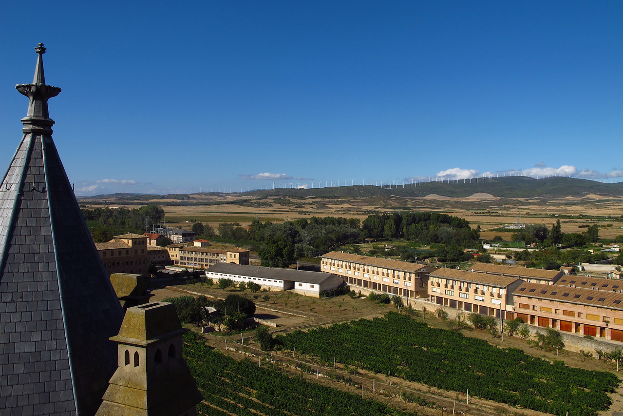 "Olite has 3750 residents and is located about 14 miles from Pamplona.  In Castillian, Olite means ""romance"".   It sits at 1000 ft elevation and is on the banks of the Zidacos River."