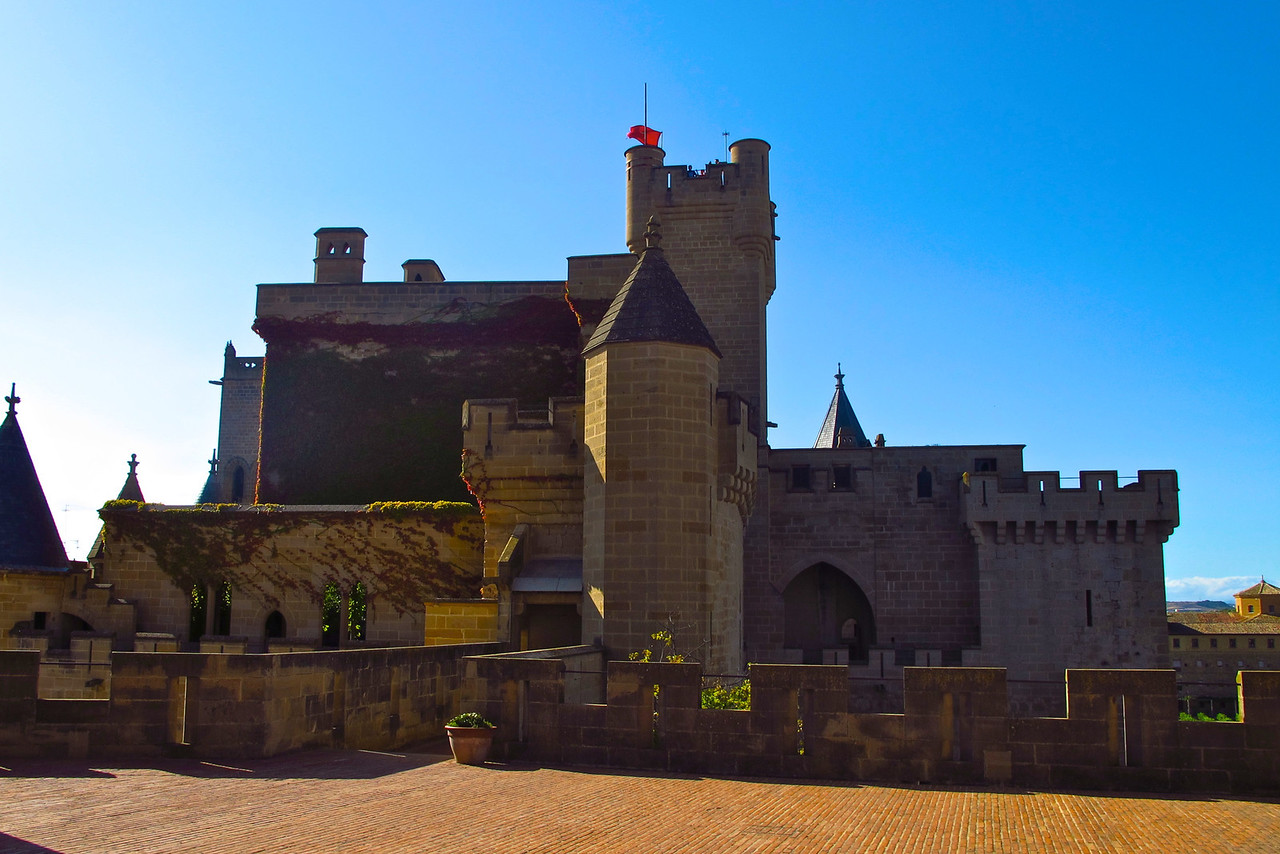 The Palace of Olite is the main tourist attraction in town.