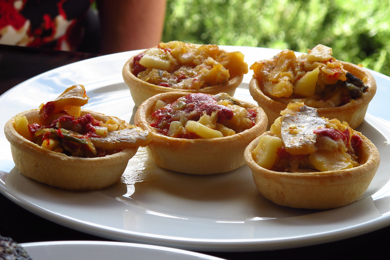 Potato and pepper tarts.