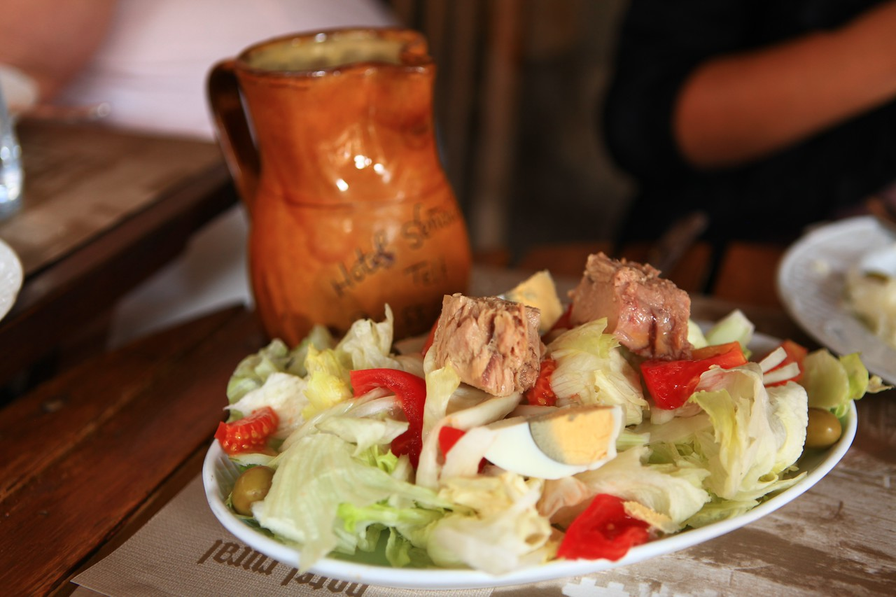 We started our lunch off with a traditional tuna salad.
