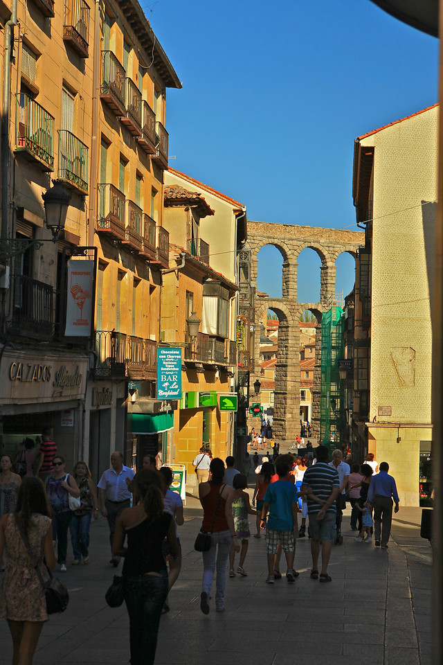 Calle de Cervantes is one of the main streets in Segovia.