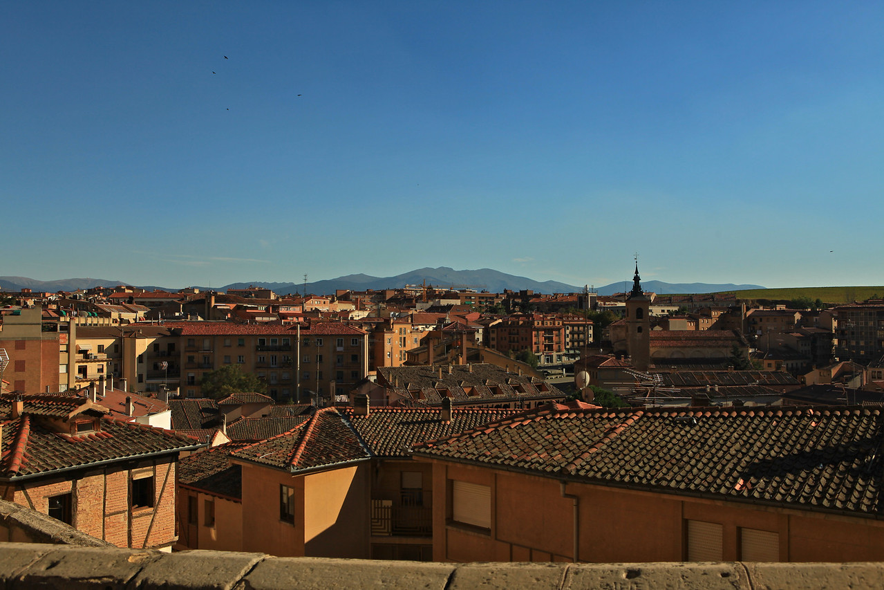 From within the old walled city of Segovia, you can see the rest of the city that sits outside the wall.