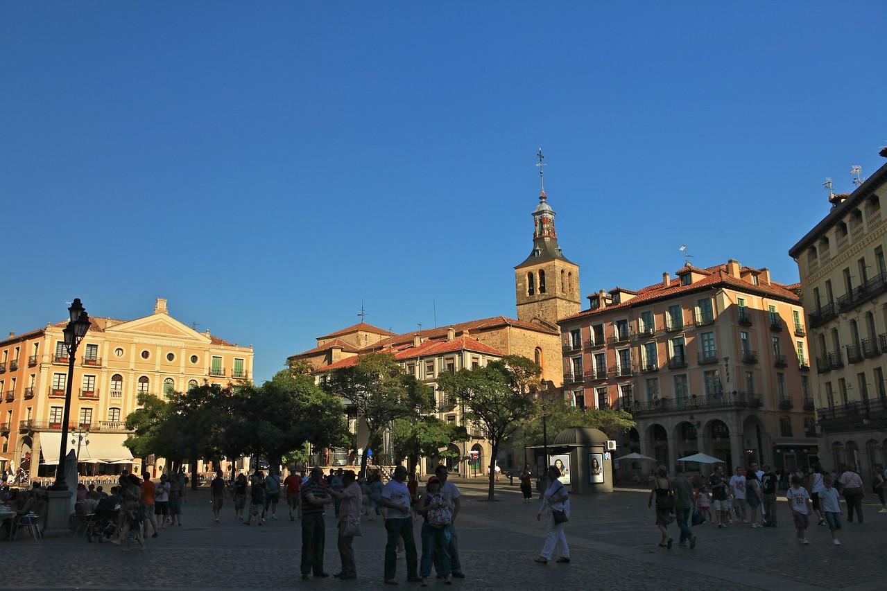 Plaza Mayor in Segovia.