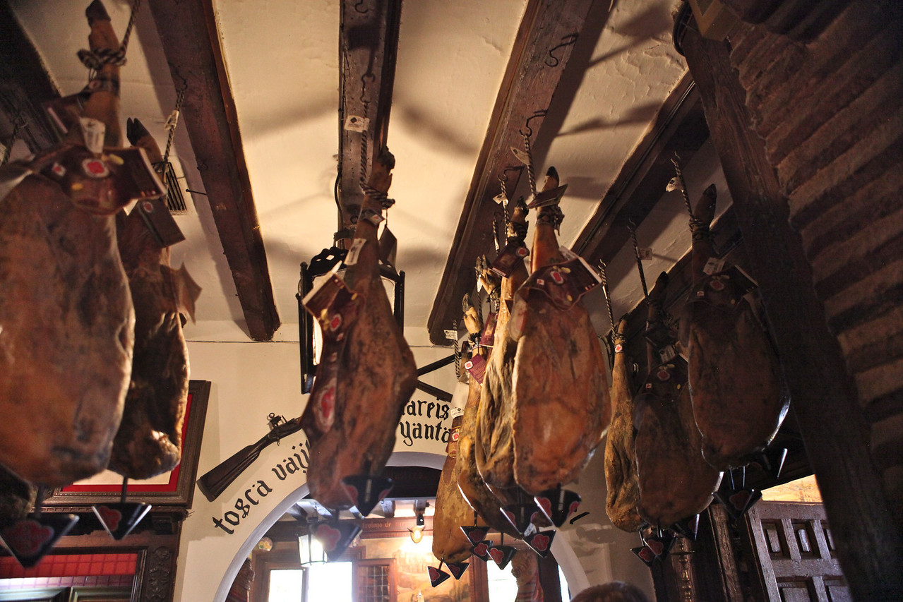 All you need to do is look at the ceiling in some areas to see your ham being cured right out in the open.