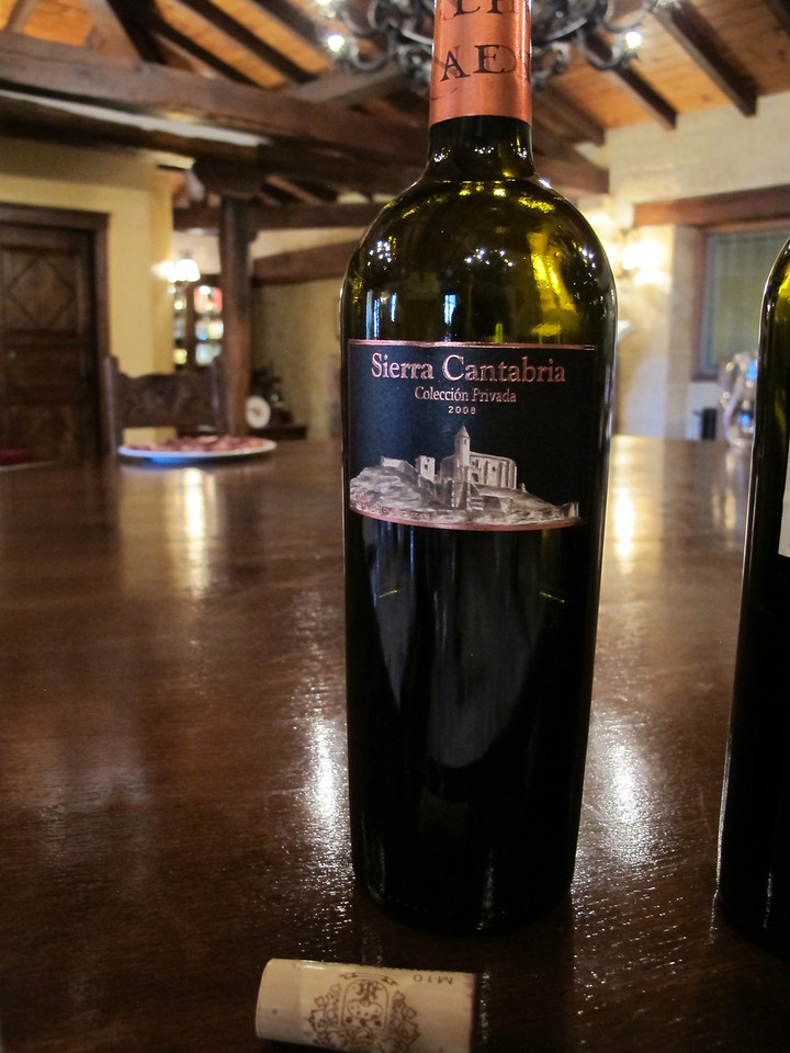Sierra Cantabria is one of their more inexpensive wines and is named after the mountain range nearby.  It is made from 100% tempranillo grapes on vines over 30 years old.