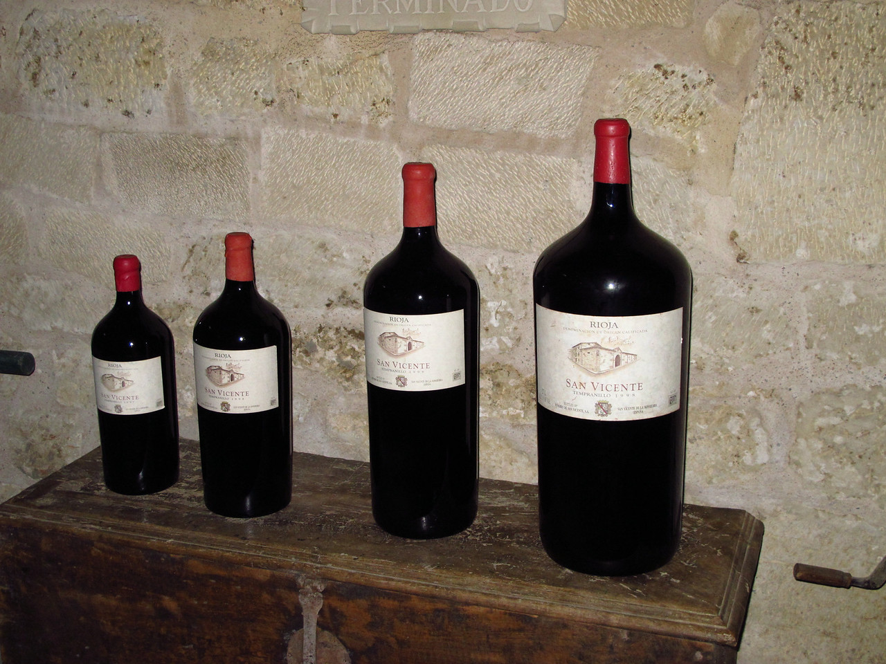 Here's their San Vincente wine in many different sizes from 1.5 litres to 6 litre bottles.