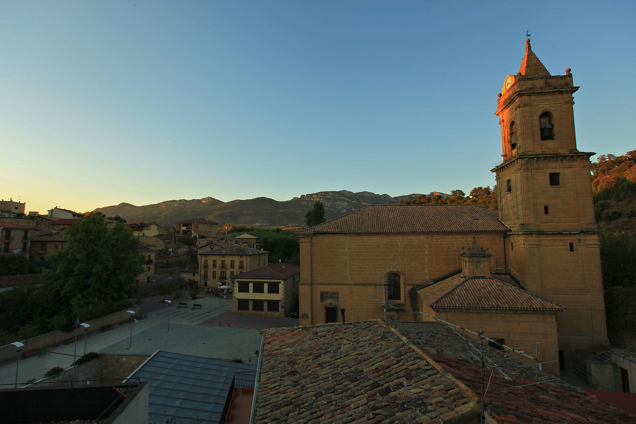 From the rooftop you can see to the center of the town square.