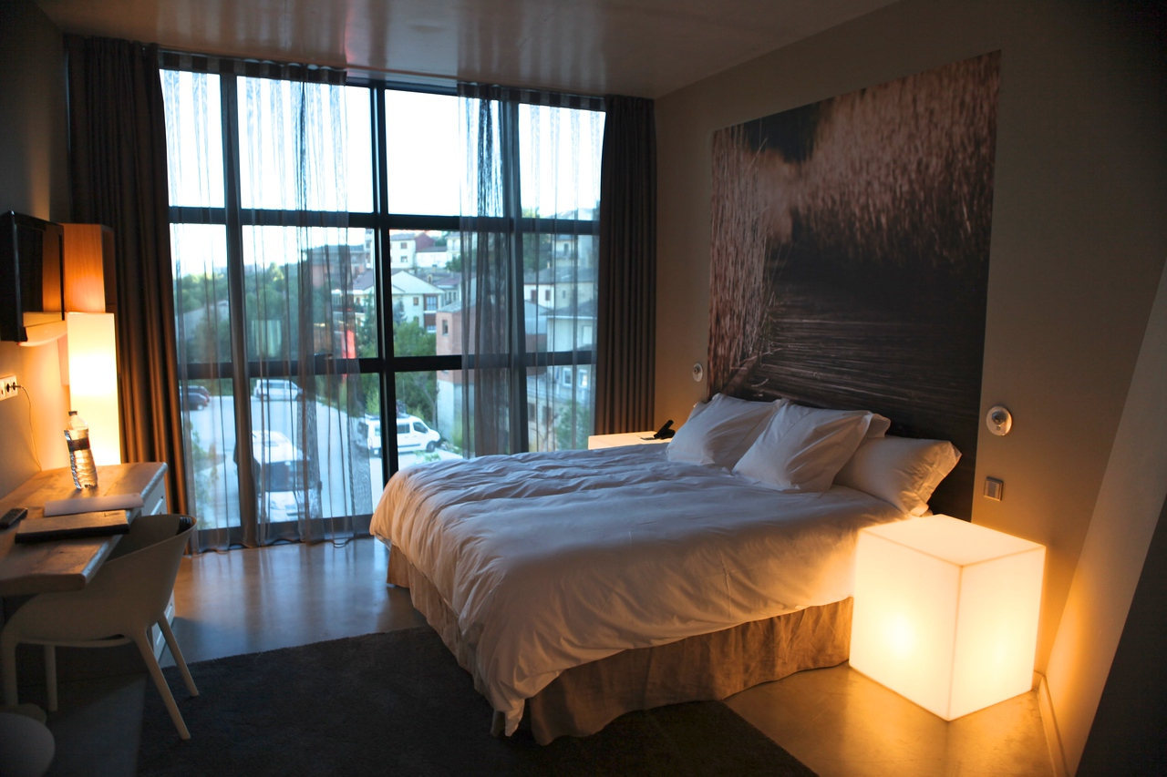 All of the rooms at Viura have large windows that face the outside.  This is one of the smaller rooms.