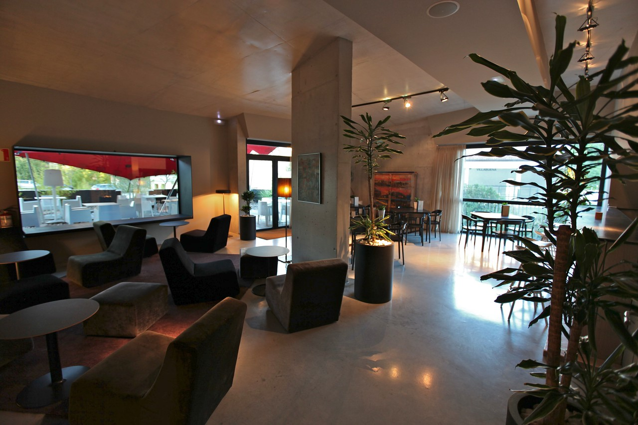 Also near the lobby is a large bar area with an expansive patio on the front and side of the hotel.
