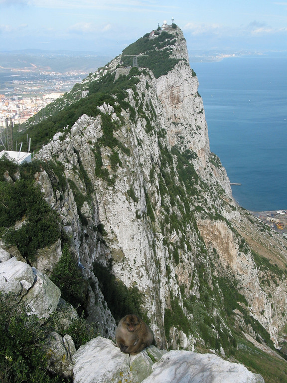 Gibraltar is located along southern Spain at the entrance overlooking the Strait of Gibraltar. Gibraltar has been an important base for the British Armed Forces and is the site of a Royal Navy base.<br /> Gibraltar was ceded by Spain to Great Britain in perpetuity, under the 1713 Treaty of Utrecht, though Spain asserts a claim to the territory and seeks its return.
