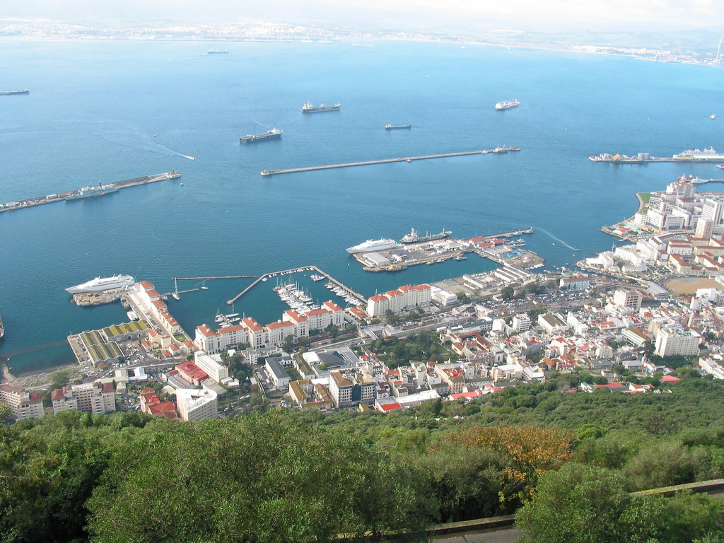 You can take ferries from Gibraltar directly to Morocco or Algeciras, Spain.