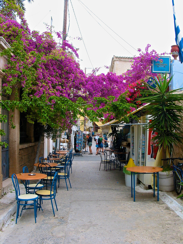 City street in Aegina.