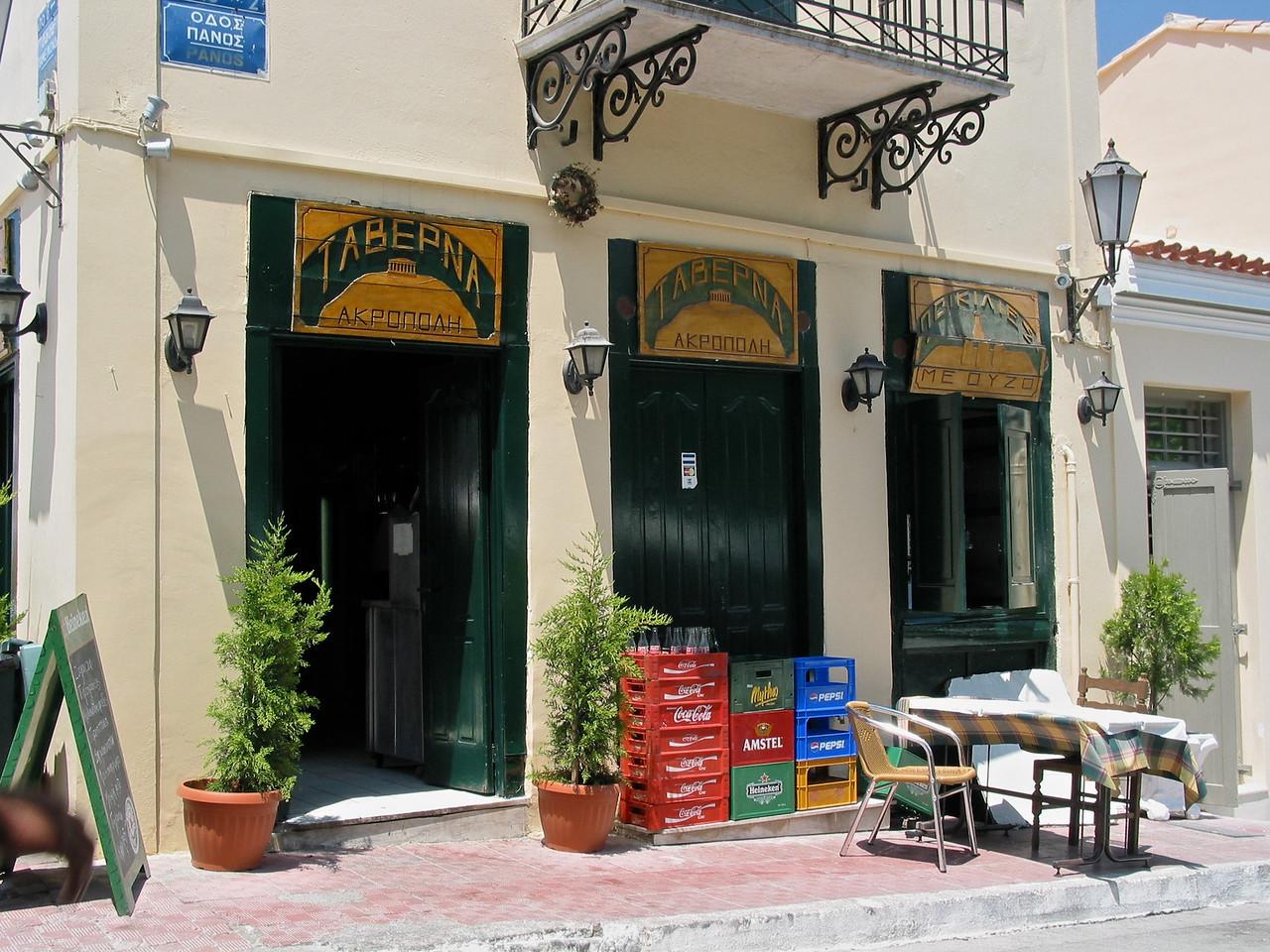 Taverna Acropolis on the Plaka.