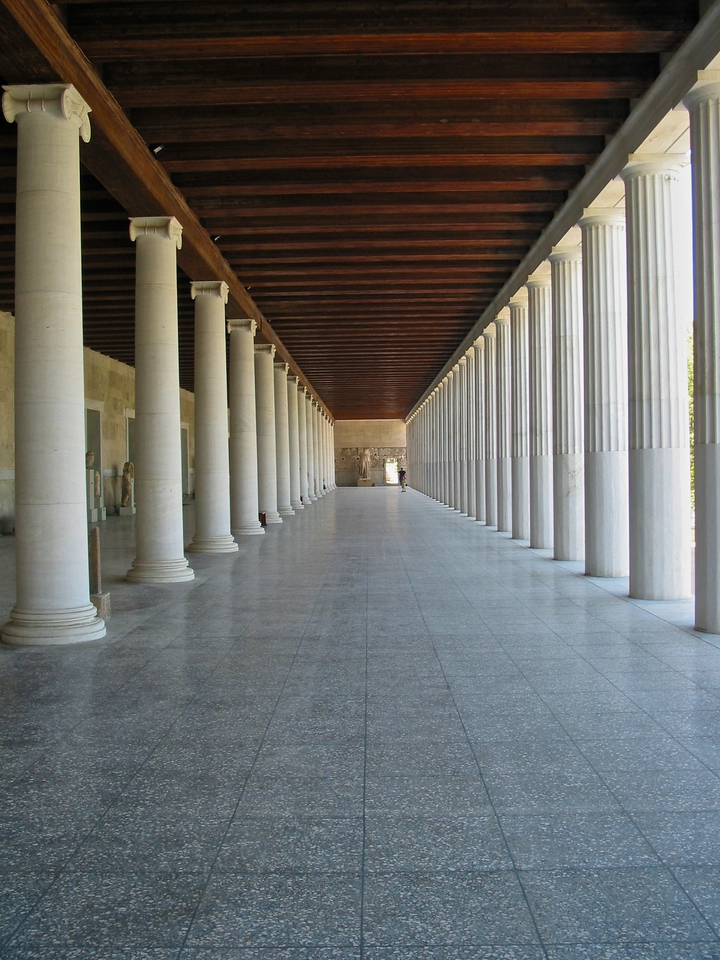 The stoa was in frequent use until it was destroyed by the Heruli in 267. The ruins became part of a fortification wall, which made it easily seen in modern times. In the 1950s, the Stoa of Attalos was fully reconstructed and made into the Ancient Agora Museum, by the American School of Classical Studies at Athens,[1] with funding donated by the Rockefeller family. The building is particularly important in the study of ancient monuments because the reconstruction of 1952–1956 faithfully replicates the original building