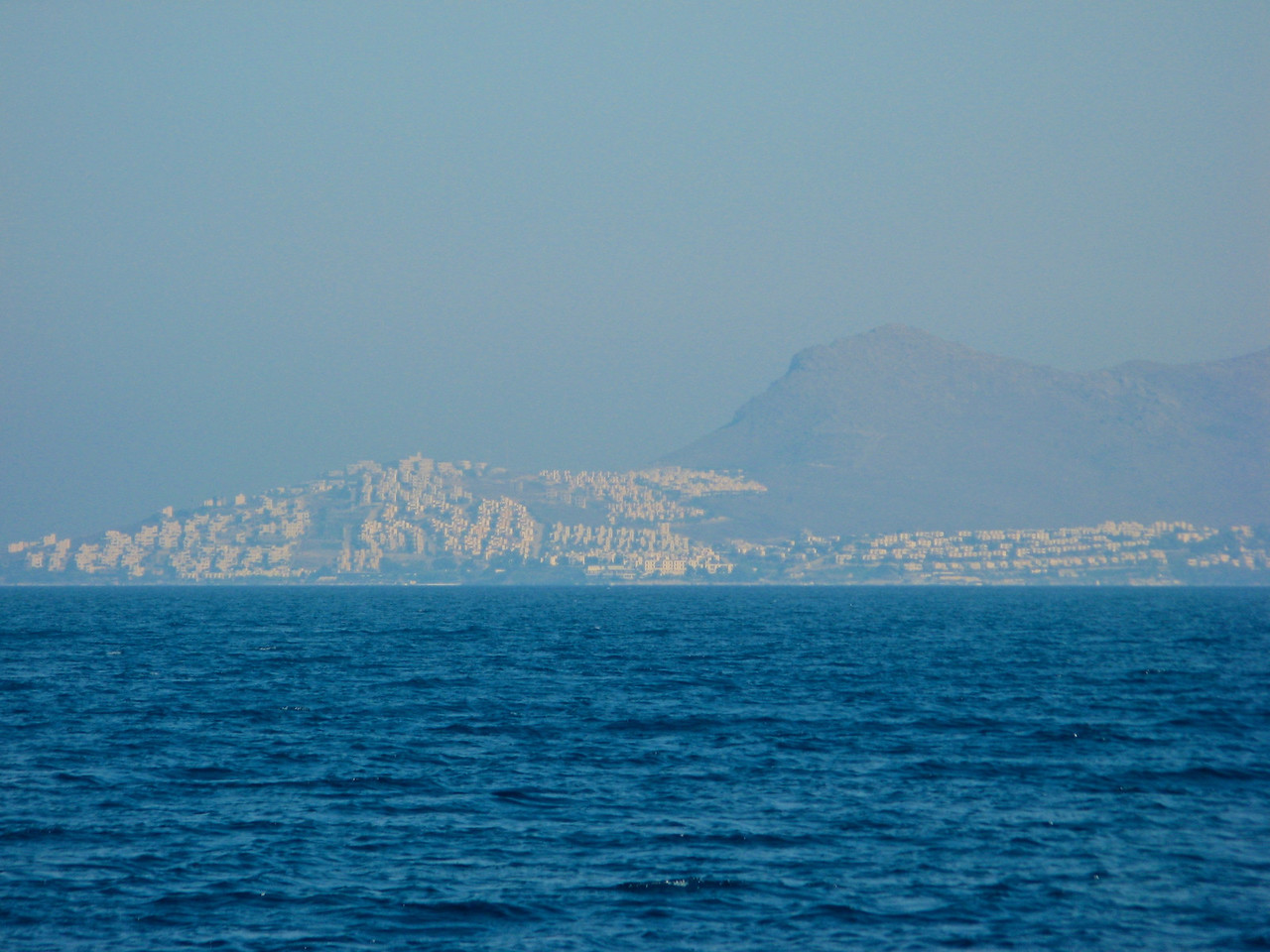 Looking across the water into Turkey.