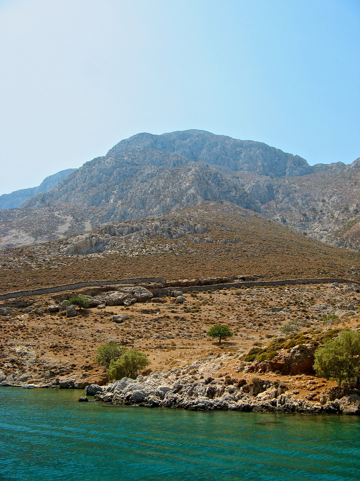 The climate in most of the Dodecanese island chain is very arid with ittle annual rainfall.